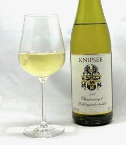 Knipser Chardonnay & Weißburgunder trocken 2018 mit Glass