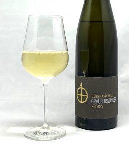 "Bernhard Koch Grauburgunder ""Letten"" Réserve 2018 mit Glass"