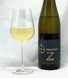"""Bernhard Koch Riesling """"Z"""" trocken 2019 mit Glass"""